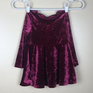 Beautiful Faux Velvet Toddler Christmas Dress NWOT